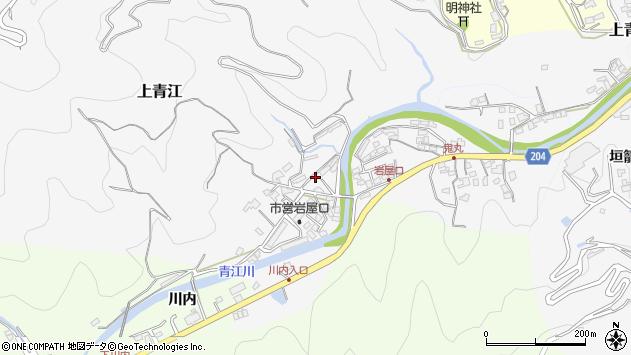 大分県津久見市上青江5737周辺の地図