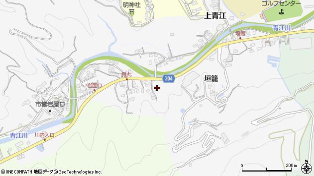 大分県津久見市上青江5206周辺の地図