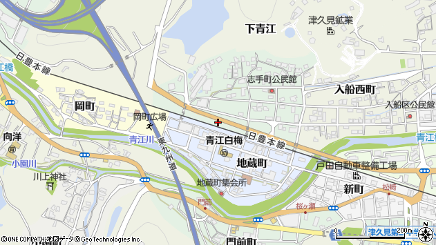 大分県津久見市志手町1周辺の地図