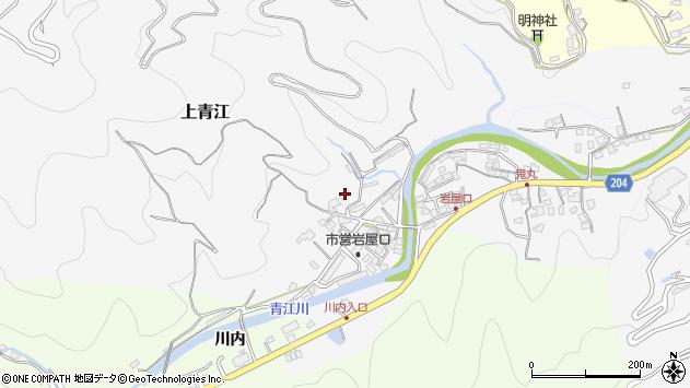 大分県津久見市上青江1313周辺の地図