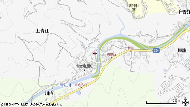 大分県津久見市上青江5736周辺の地図