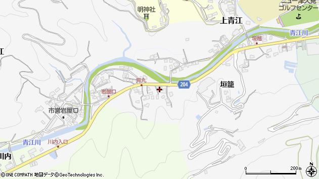 大分県津久見市上青江5242周辺の地図