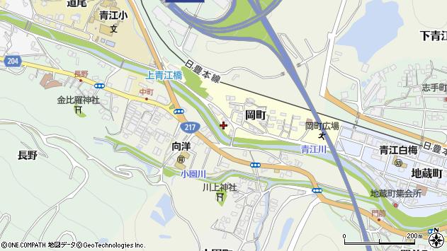 大分県津久見市岡町4周辺の地図