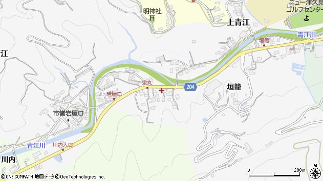 大分県津久見市上青江5240周辺の地図