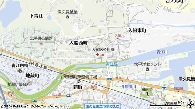 大分県津久見市入船西町8周辺の地図