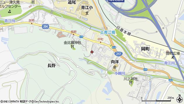 大分県津久見市中町5周辺の地図