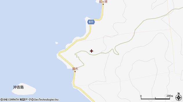 大分県津久見市四浦摺木周辺の地図
