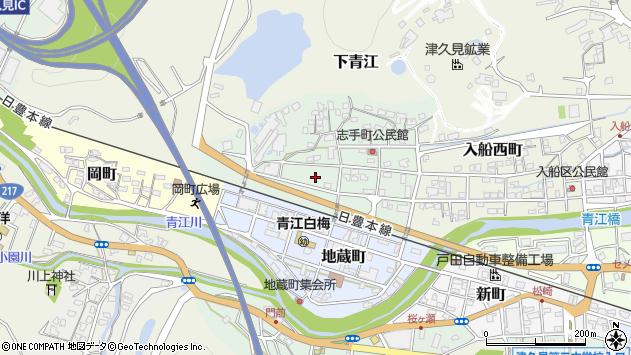 大分県津久見市志手町9周辺の地図