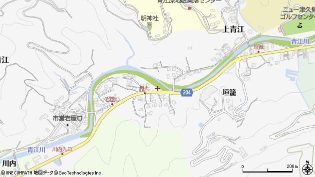 大分県津久見市上青江5218周辺の地図