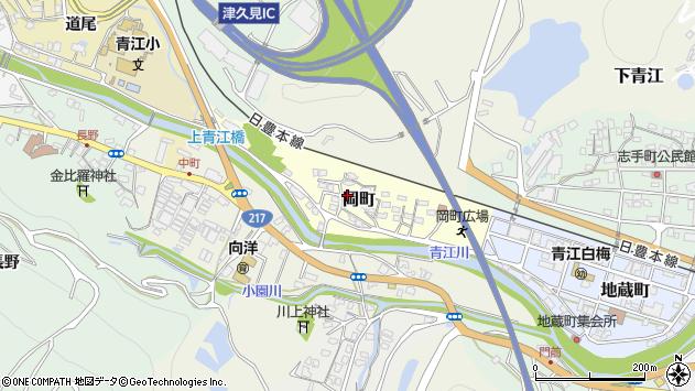 大分県津久見市岡町2周辺の地図