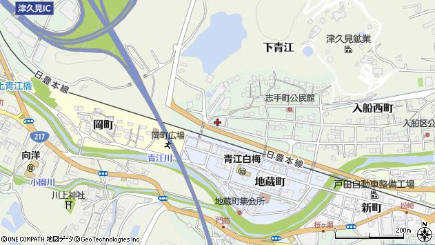大分県津久見市志手町12周辺の地図