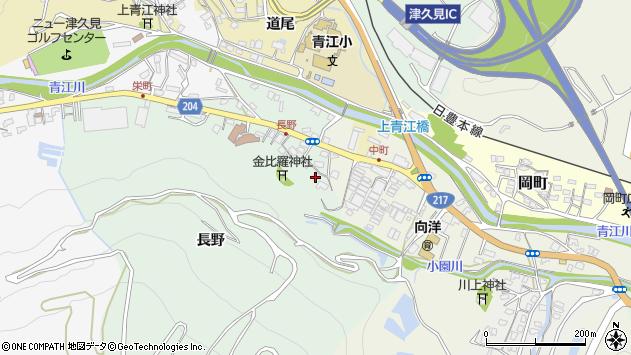 大分県津久見市上青江4693周辺の地図