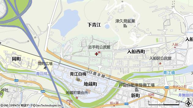 大分県津久見市志手町周辺の地図