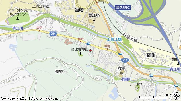 大分県津久見市上青江4637周辺の地図