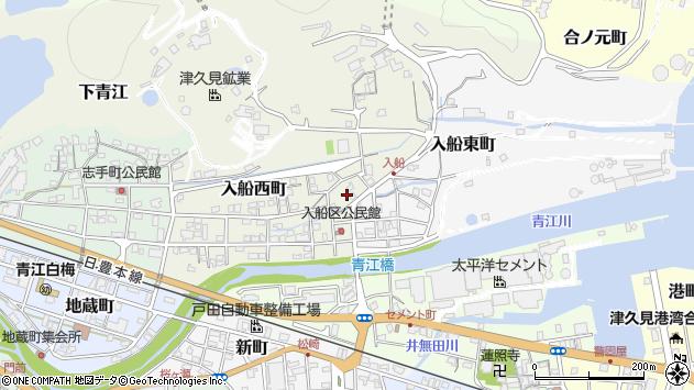 大分県津久見市入船西町4周辺の地図