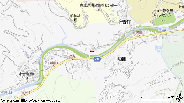 大分県津久見市上青江2286周辺の地図