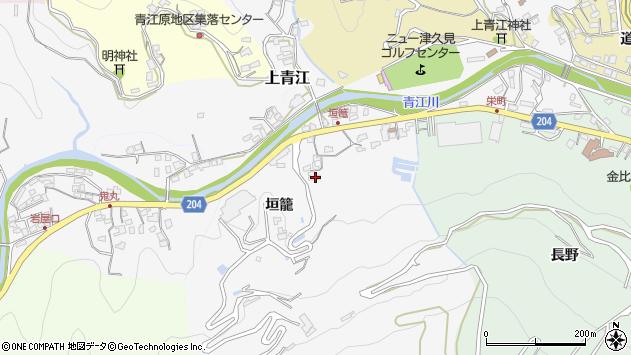大分県津久見市上青江5064周辺の地図