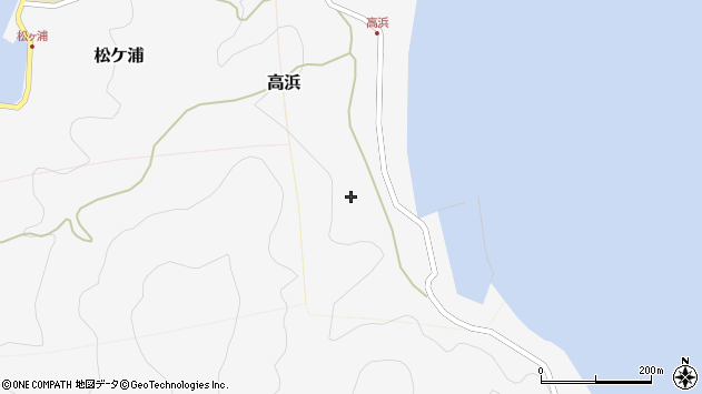 大分県津久見市四浦高浜周辺の地図