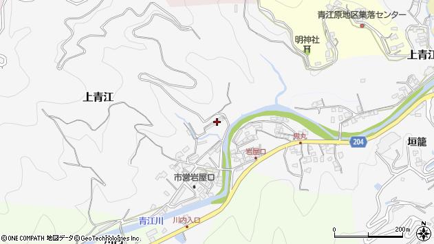 大分県津久見市上青江1392周辺の地図