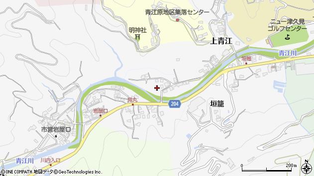 大分県津久見市上青江5011周辺の地図