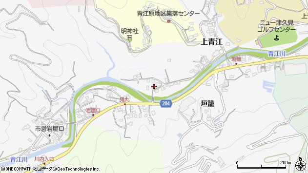 大分県津久見市上青江2281周辺の地図