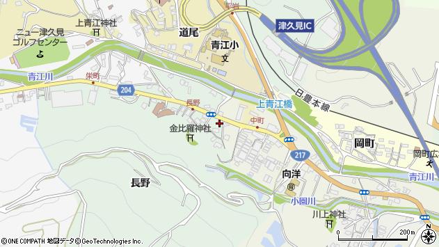大分県津久見市上青江4639周辺の地図
