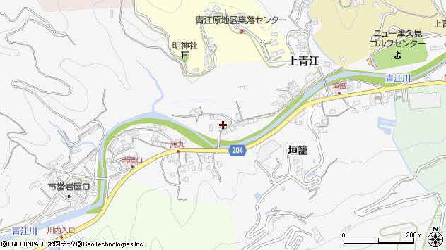 大分県津久見市上青江2287周辺の地図