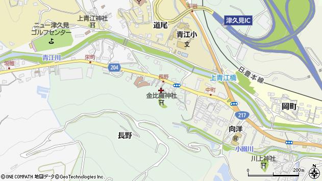 大分県津久見市上青江4858周辺の地図