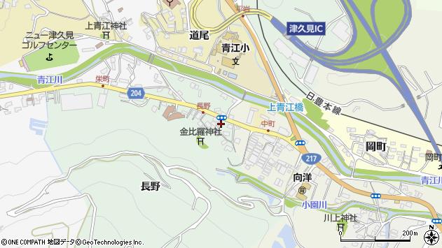 大分県津久見市上青江4634周辺の地図