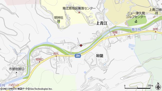 大分県津久見市上青江2298周辺の地図