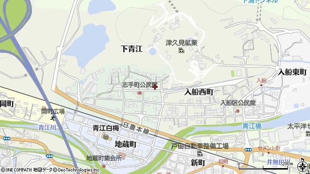 大分県津久見市志手町4周辺の地図