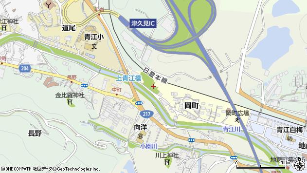 大分県津久見市岡町5周辺の地図
