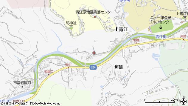 大分県津久見市上青江2315周辺の地図