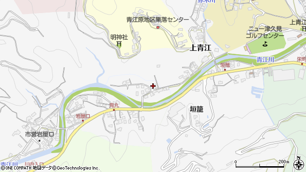 大分県津久見市上青江2317周辺の地図