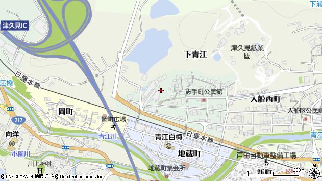 大分県津久見市志手町11周辺の地図