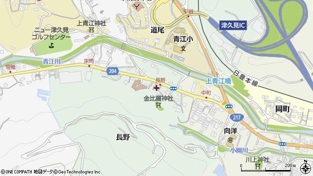 大分県津久見市上青江4861周辺の地図