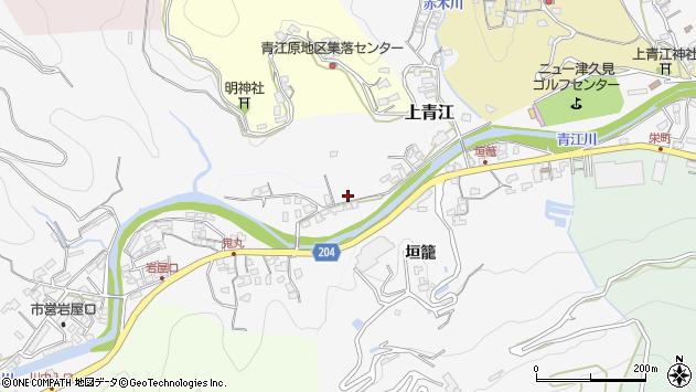 大分県津久見市上青江2312周辺の地図