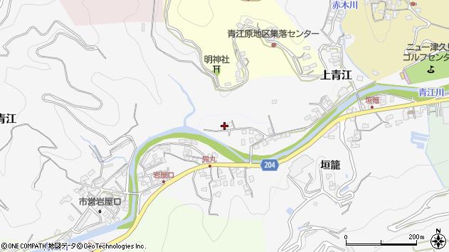 大分県津久見市上青江2328周辺の地図