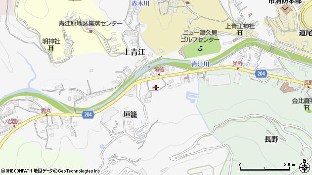 大分県津久見市上青江5043周辺の地図