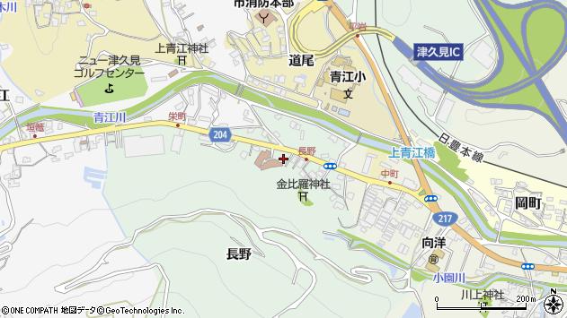 大分県津久見市上青江4865周辺の地図