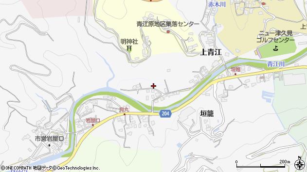大分県津久見市上青江2321周辺の地図