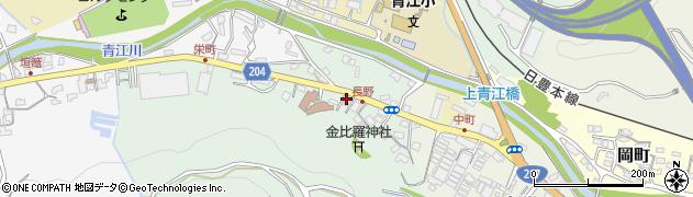 大分県津久見市上青江4863周辺の地図