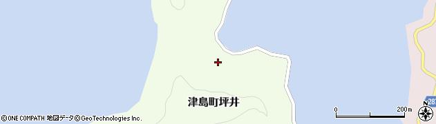 愛媛県宇和島市津島町坪井周辺の地図