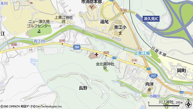 大分県津久見市上青江4867周辺の地図