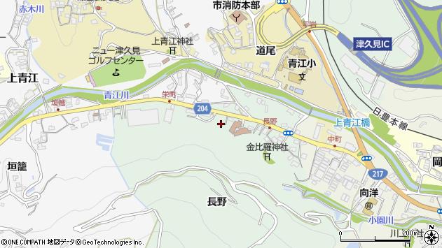 大分県津久見市上青江4818周辺の地図