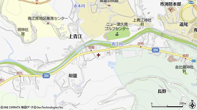 大分県津久見市上青江5013周辺の地図
