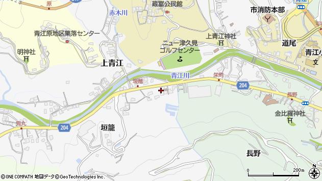 大分県津久見市上青江5015周辺の地図