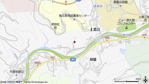 大分県津久見市上青江2341周辺の地図