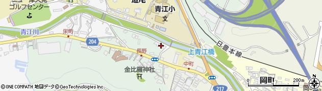 大分県津久見市上青江4615周辺の地図