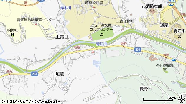 大分県津久見市上青江5003周辺の地図